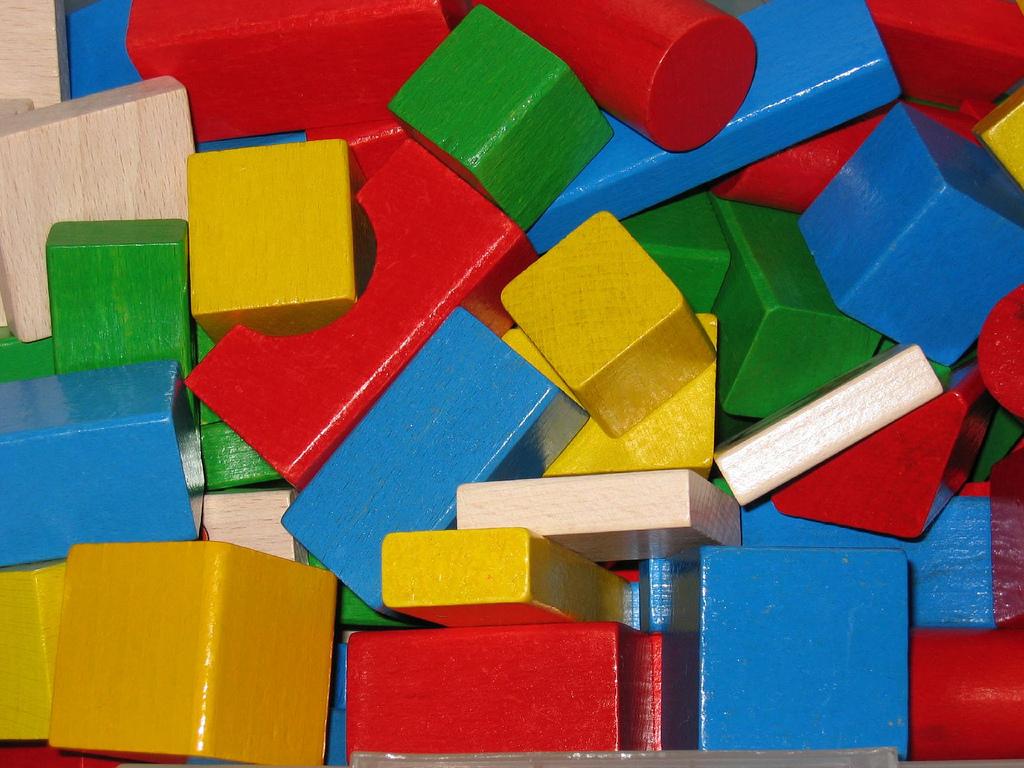 writers block colorful wood toy blocks